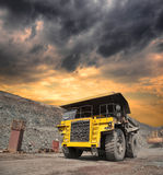 Mining truck on the opencast Stock Image