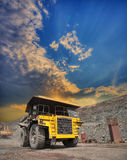 Mining truck on the opencast Stock Images