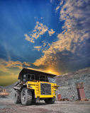 Mining truck on the opencast Stock Photo