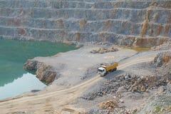 Mining truck in quarry Stock Photo