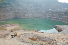 Mining truck in quarry Royalty Free Stock Images
