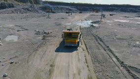 Mining truck transporting stock footage