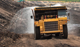 Mining truck unload coal Stock Photography