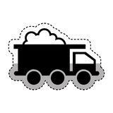 Mining truck vehicle isolated icon Royalty Free Stock Images