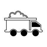Mining truck vehicle isolated icon Royalty Free Stock Photos