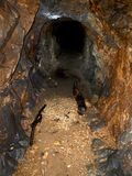 Mining tunnel. After opal mining. Dubnik, Slovakia Stock Photography
