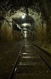 Mining tunnel underground Stock Photography