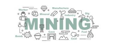 Mining vector banner Stock Image
