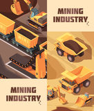 Mining Vertical Banners Set Royalty Free Stock Photos