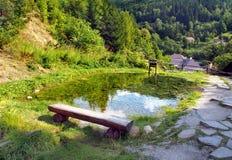 Mining watercourse landmark, Spania Dolina stock images