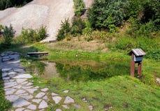 Mining watercourse in Spania Dolina, Slovakia royalty free stock photography