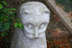 Minino de piedra Fotos de archivo