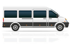 Minio bus for the carriage of passengers vector illustration Stock Photos