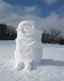 Minion φιαγμένο από χιόνι Στοκ Φωτογραφία