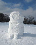 Minion made of Snow Stock Photography