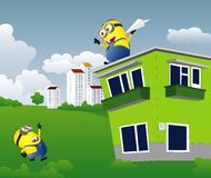 Minion play on nature Royalty Free Stock Photos