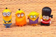 Minionsstuk speelgoed stock foto's