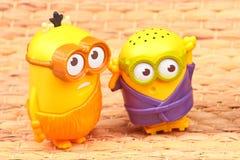 Minionsstuk speelgoed royalty-vrije stock afbeeldingen
