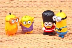 Minionsstuk speelgoed stock afbeelding