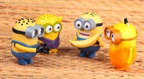 Minionsstuk speelgoed royalty-vrije stock foto's