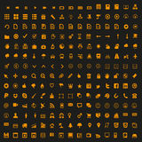 Minipictogrammen geplaatst vector Royalty-vrije Stock Afbeeldingen