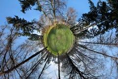 Miniplanet - Praag - Stromovka Stock Foto