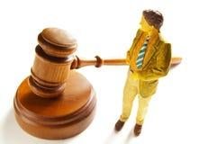 Minirechtsanwalt Stockbild