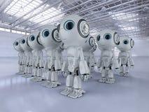 Minirobotsassemblage royalty-vrije illustratie