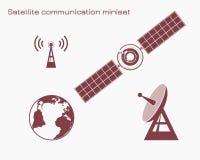 Miniset de uma comunicação satélite Foto de Stock