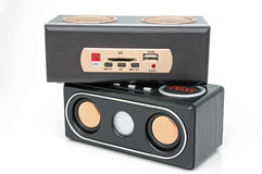 Minispeaker and MP3 player Stock Image