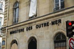 Ministère de la France d'outre-mer photographie stock libre de droits