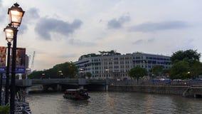 Ministère de Singapour des communications et de l'information, rivière et Photographie stock libre de droits