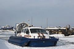 Ministère russe de secours d'aéroglisseur Photos libres de droits