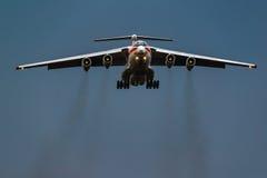 Ministério de Ilushin Il-76 TD das situações de emergência da Federação Russa Imagens de Stock Royalty Free