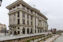 Ministério dos Negócios Estrangeiros no centro da cidade de Skopje, república de Macedo Imagem de Stock