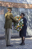 Minister of Defence Mapisa-Nqakula at Memorial Royalty Free Stock Photo
