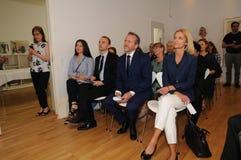 Minister dla frieng sprawy wizyty ipc 40 rok celebratuos Obraz Stock