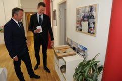 Minister dla frieng sprawy wizyty ipc 40 rok celebratuos Zdjęcia Royalty Free