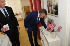 Minister dla frieng sprawy wizyty ipc 40 rok celebratuos Zdjęcie Royalty Free