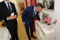 Minister dla frieng sprawy wizyty ipc 40 rok celebratuos Fotografia Stock