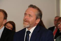Minister dla frieng sprawy wizyty ipc 40 rok celebratuos Fotografia Royalty Free