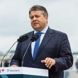 Minister dla spraw gospodarczych i Energetyczny Sigmar Gabriel Zdjęcia Stock