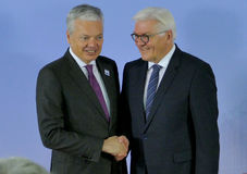 Minister Dr Frank-Walter Steinmeier welcomes Didier Reynders Stock Photos