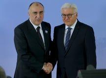 Minister Dr Frank-Walter Steinmeier welcomes Elmar Mammadyarov Royalty Free Stock Photography
