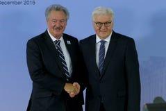 Minister Dr Frank-Walter Steinmeier welcomes Jean Asselborn Stock Image