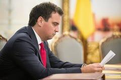 Minister of Economic Development and Trade of Ukraine Aivaras Ab Stock Photo