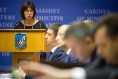 Minister of Finance of Ukraine Natalia Yaresko Royalty Free Stock Photography