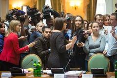Minister of Finance of Ukraine Natalia Yaresko Royalty Free Stock Photos
