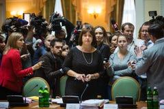 Minister of Finance of Ukraine Natalia Yaresko Stock Photography
