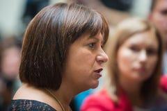Minister of Finance of Ukraine Natalia Yaresko Stock Images